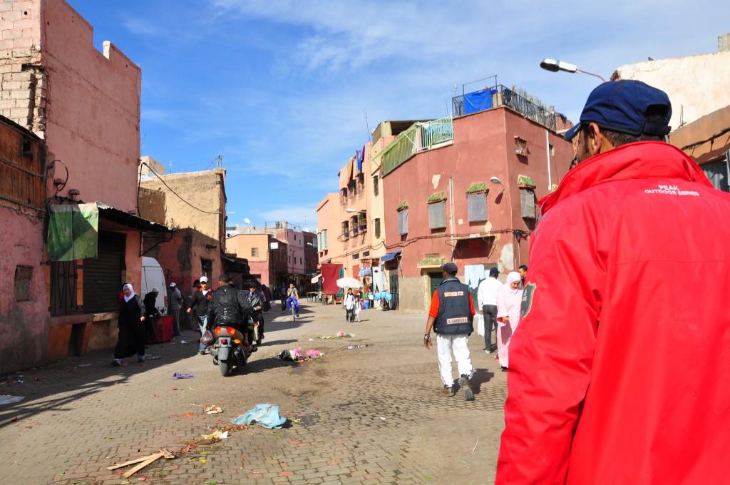 Opgelicht in de Souks van Marrakesh - Marokko