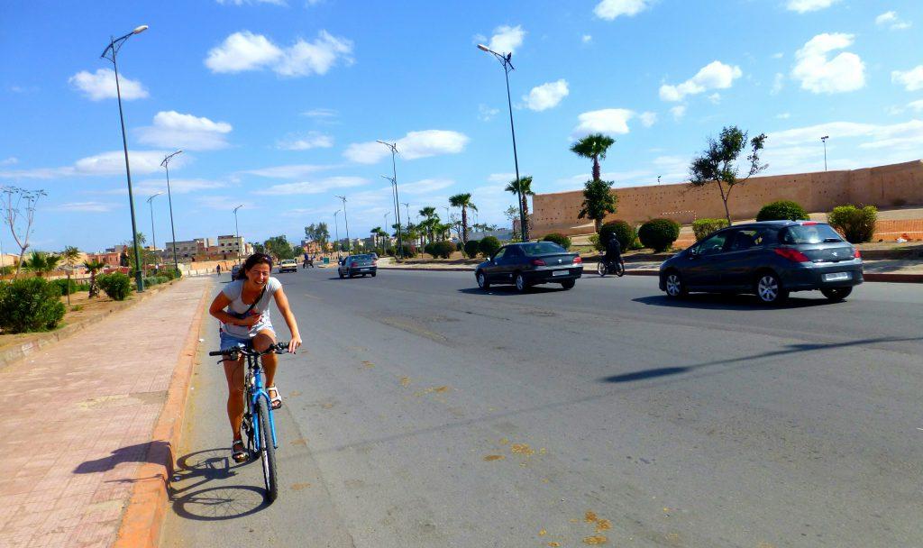 Biking in the Old Medina Of Marrakesh, Morocco