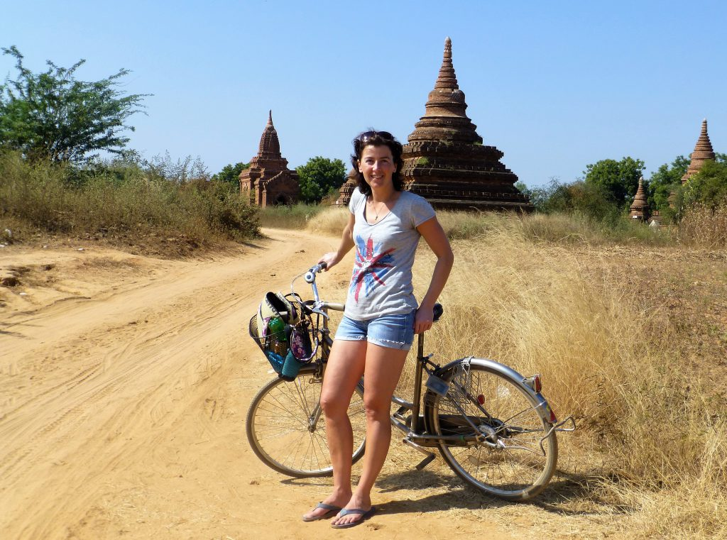 Fietsen in Bagan Myanmar