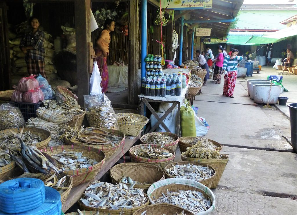 Local Market Pathein, Myanmar