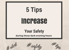 5 tips increase safety dark