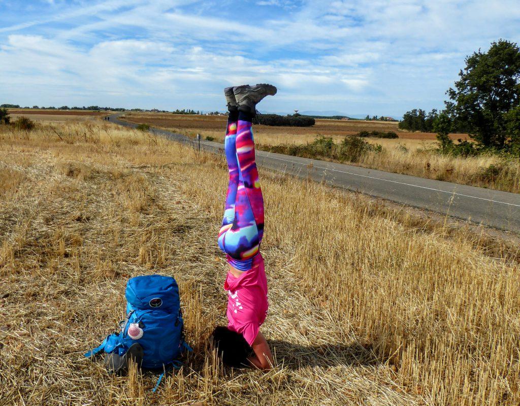 Pelgrim en Yoga op de pelgrimsroute