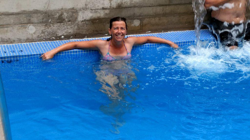 Zwembad op de Camino Frances