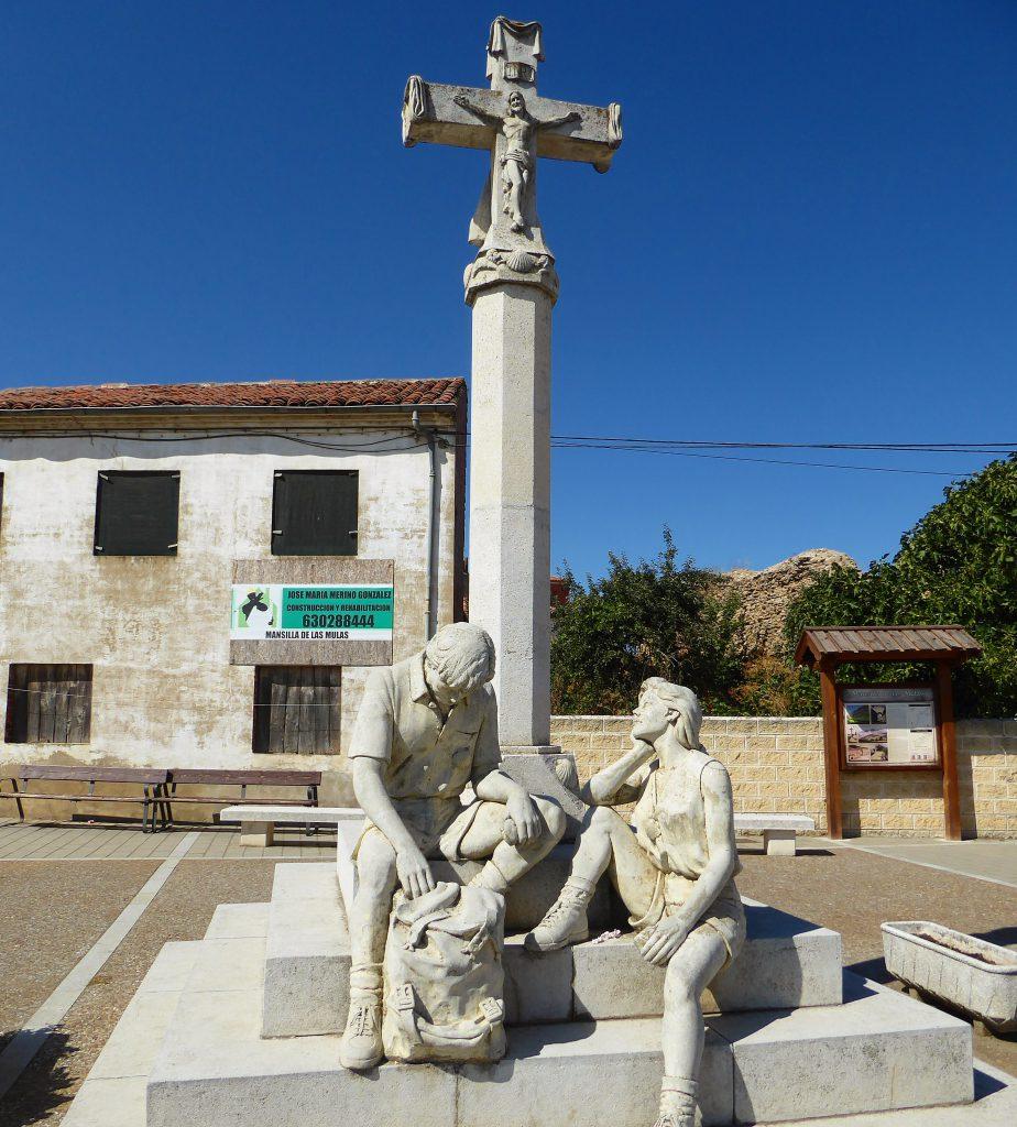 op de pelgrimsroute - Mansilla de las Mulos - Spanje