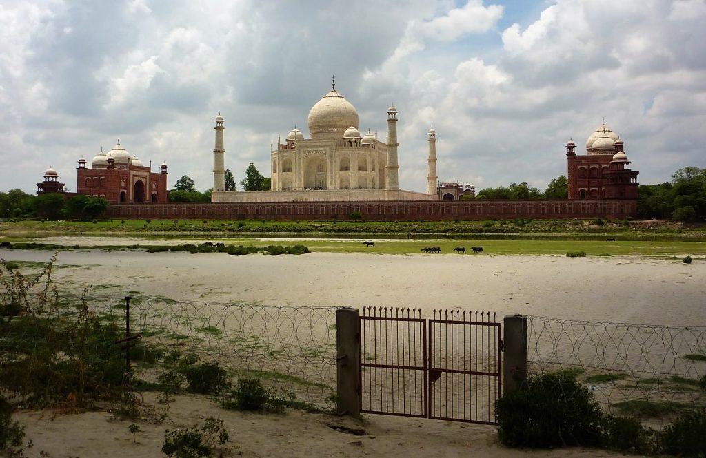 Achterzijde Taj Mahal - Agra