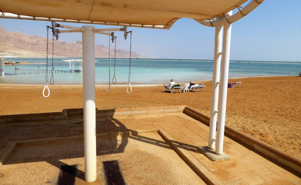 Drijven in de Dode Zee - Ein Bokek, Israel