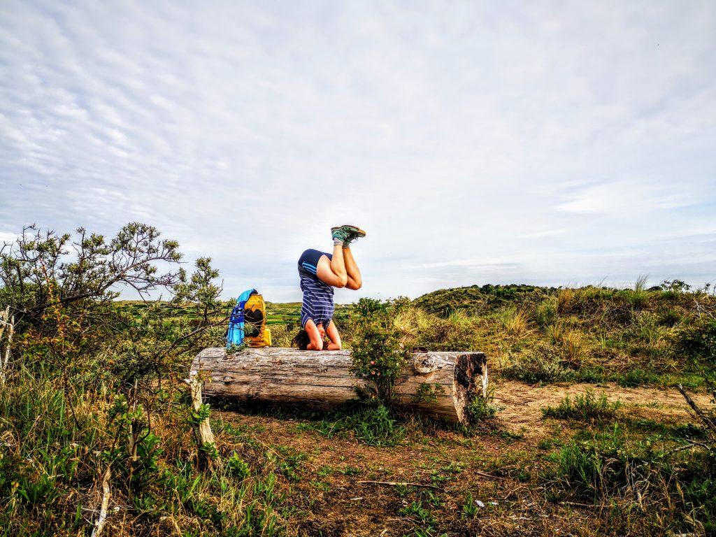 Yoga Pose in the Dutch Dunes