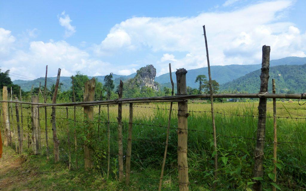 Fietsen rondom Vang Vieng Laos