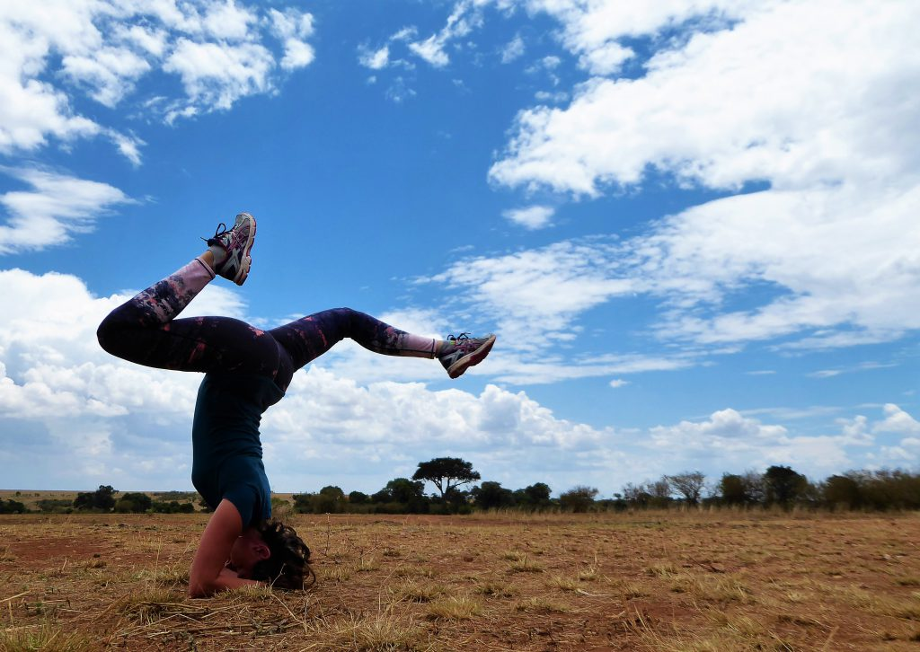 Yoga in NP Masai Mara - Kenia