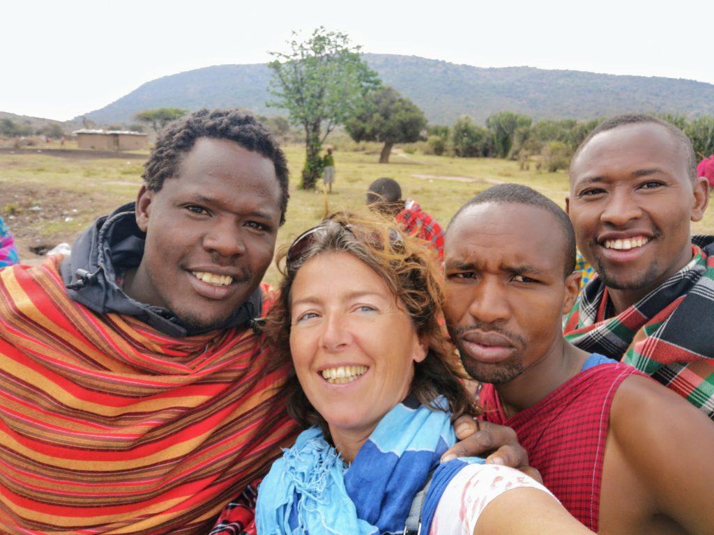 De Masai stam nabij NP Masai Mara - Kenia