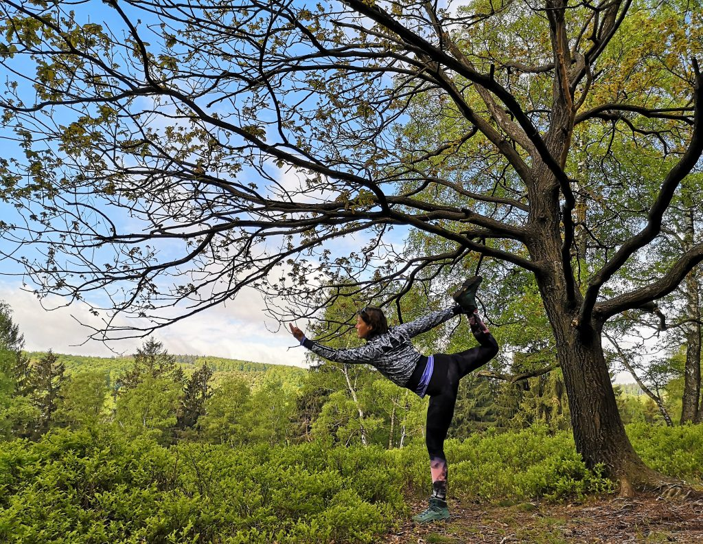 Yoga Pose on the Hiking Trail