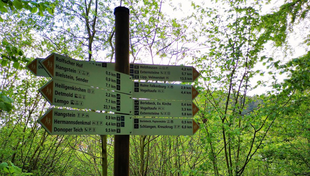 Hiking in Germany - Signs