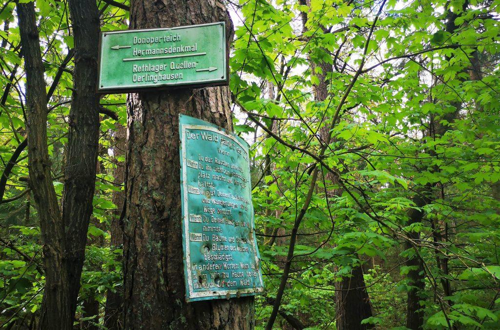 Hiking in Germany - The Hermannshoehen (Hermann Heights) Hiking Trail