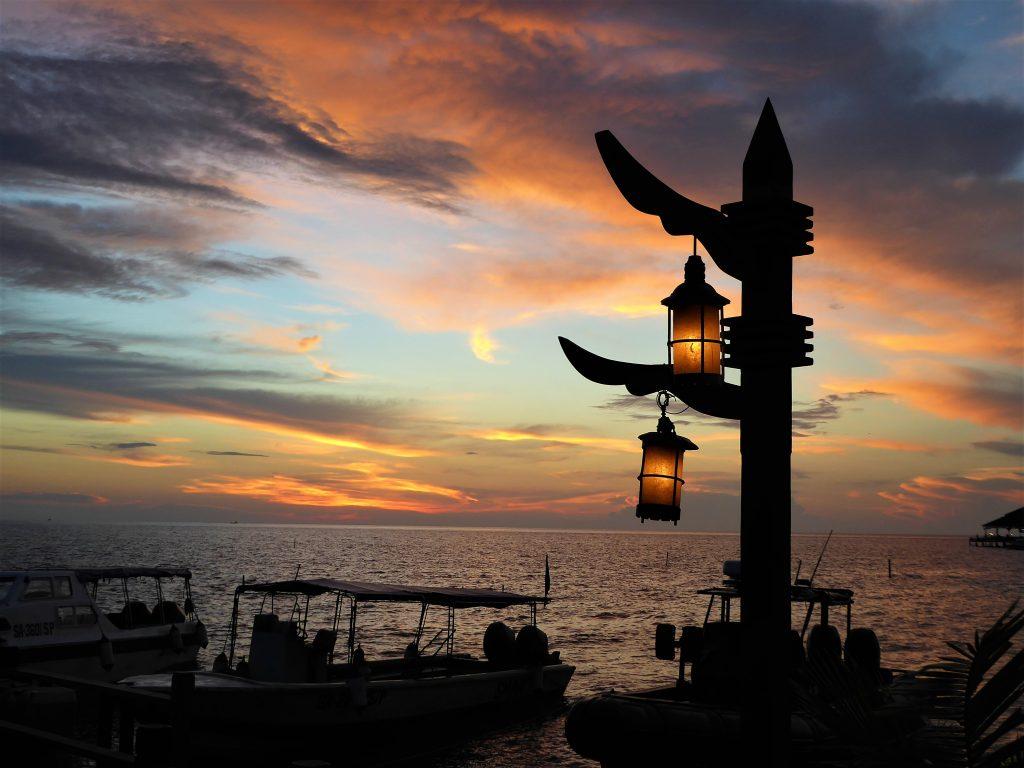 mabul eiland, zonsondergang