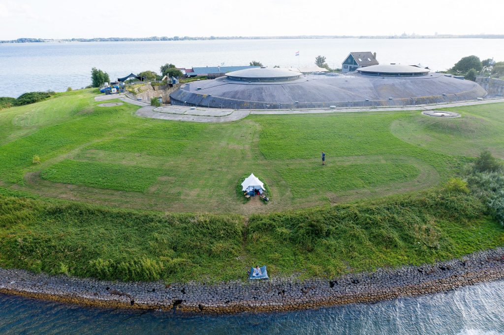 Adventurous Camping on Fort Island of Pampus