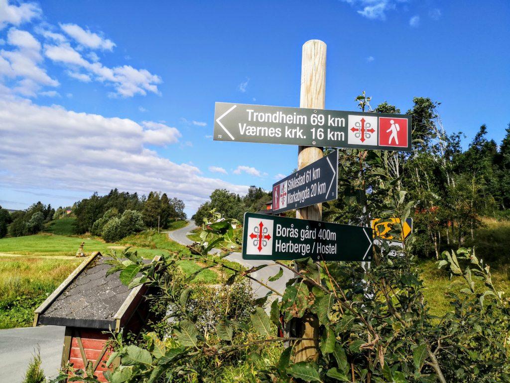 Pilgrim path St Olavsleden At Boras