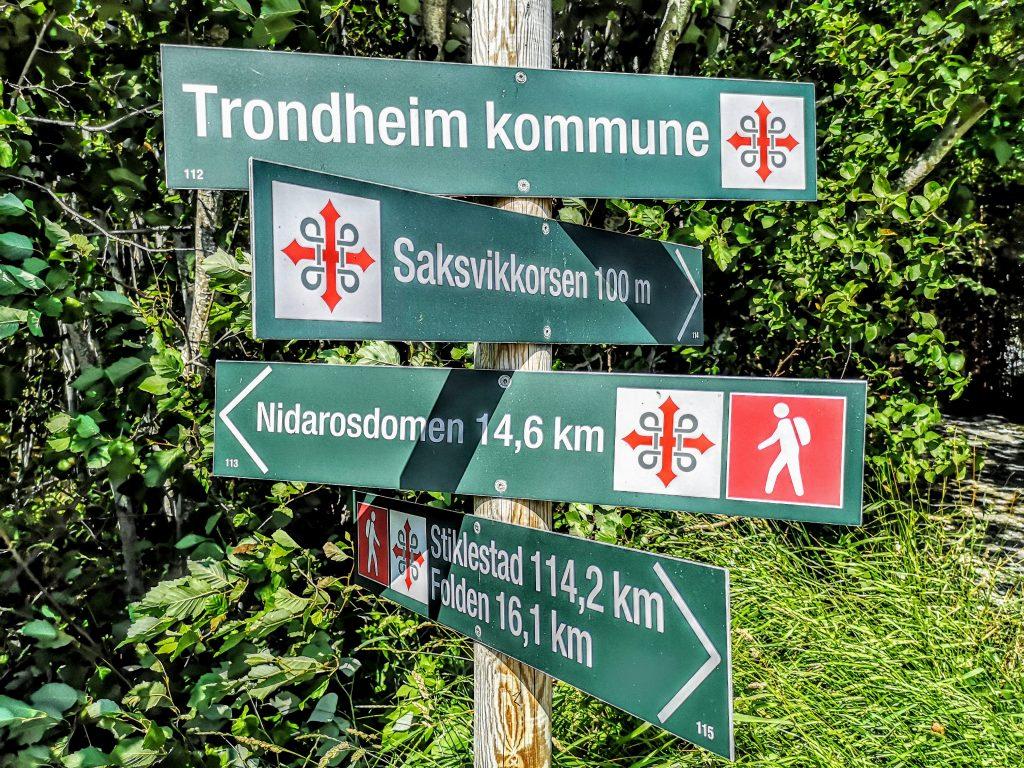 The signs of the pilgrimroute s:t Olavsleden
