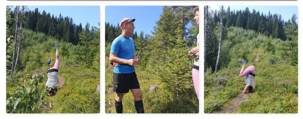 Yoga en Trailrunner meets on Olavspad