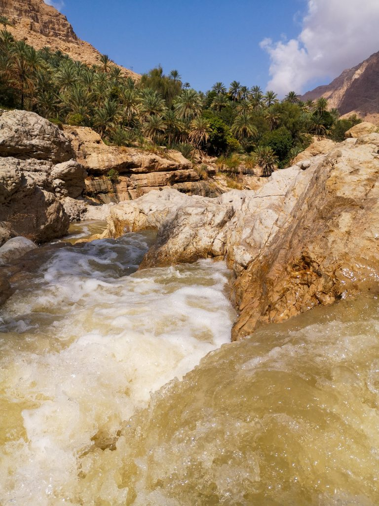 Hiking into the Wadi Tiwi, Oman