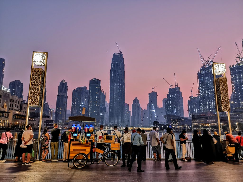 Sunset near Dubai Mall