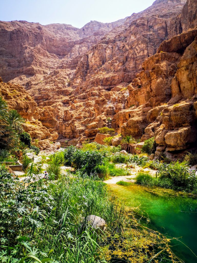 The beautiful colours of the Wadi Shab, Oman
