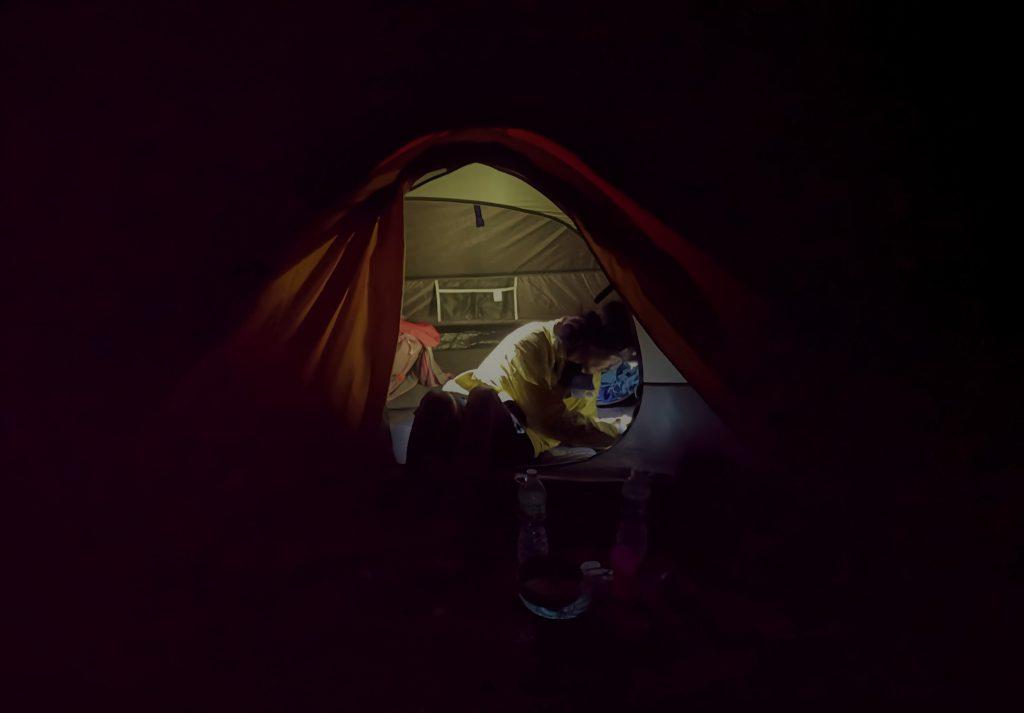 Camping on vulcano Gunung Marapi - Sumatra, Indonesia