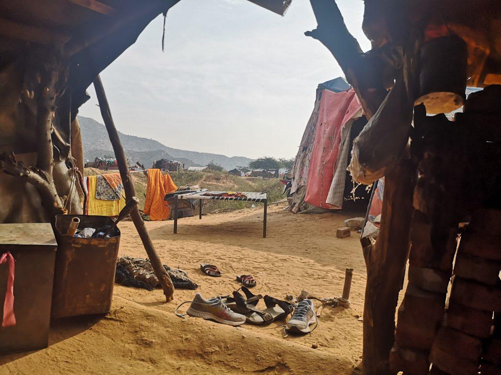De Hut van Ram net buiten Pushkar