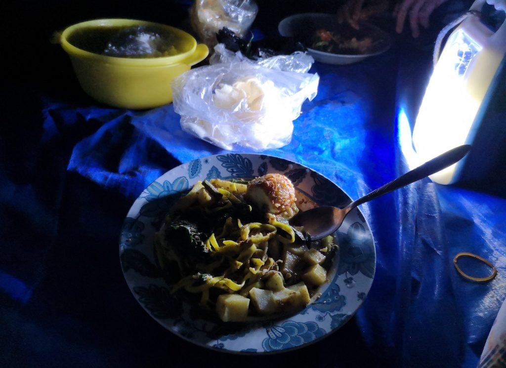 Dinner in a cave, Harau Valley