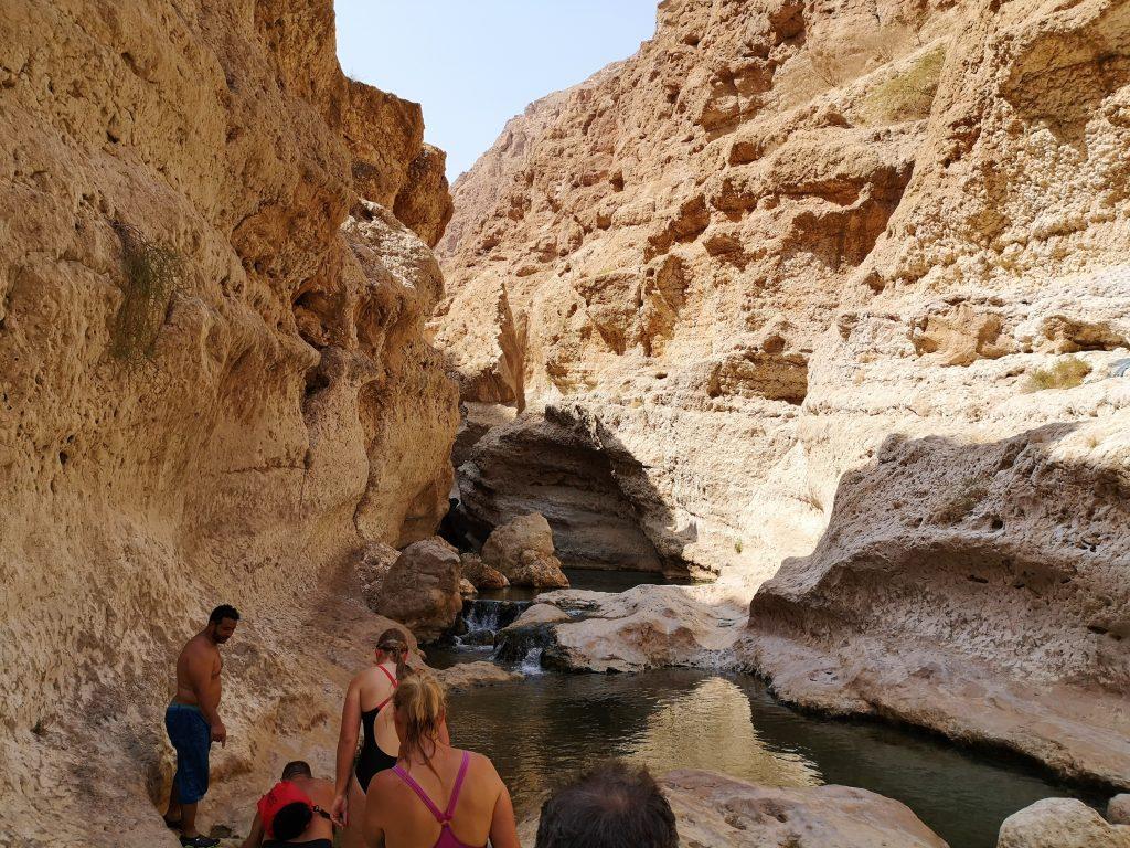 Swimming in the Wadi Shab - Sur, Oman