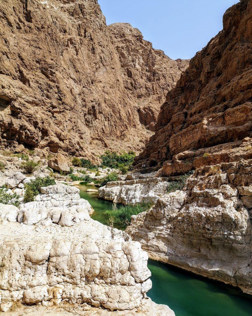 Hiking in the Wadi Shab - Sur, Oman