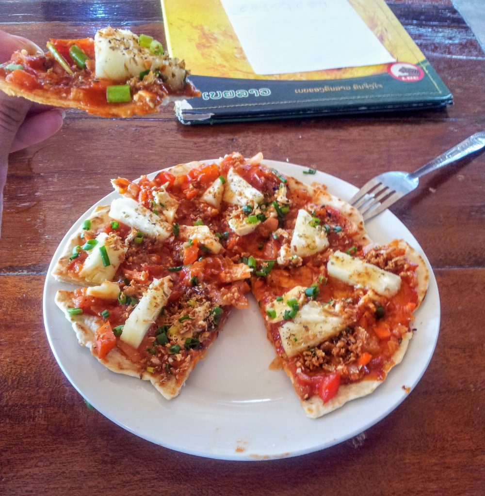 pizza at Four Thousand Islands - Si Phan Don, Laoss