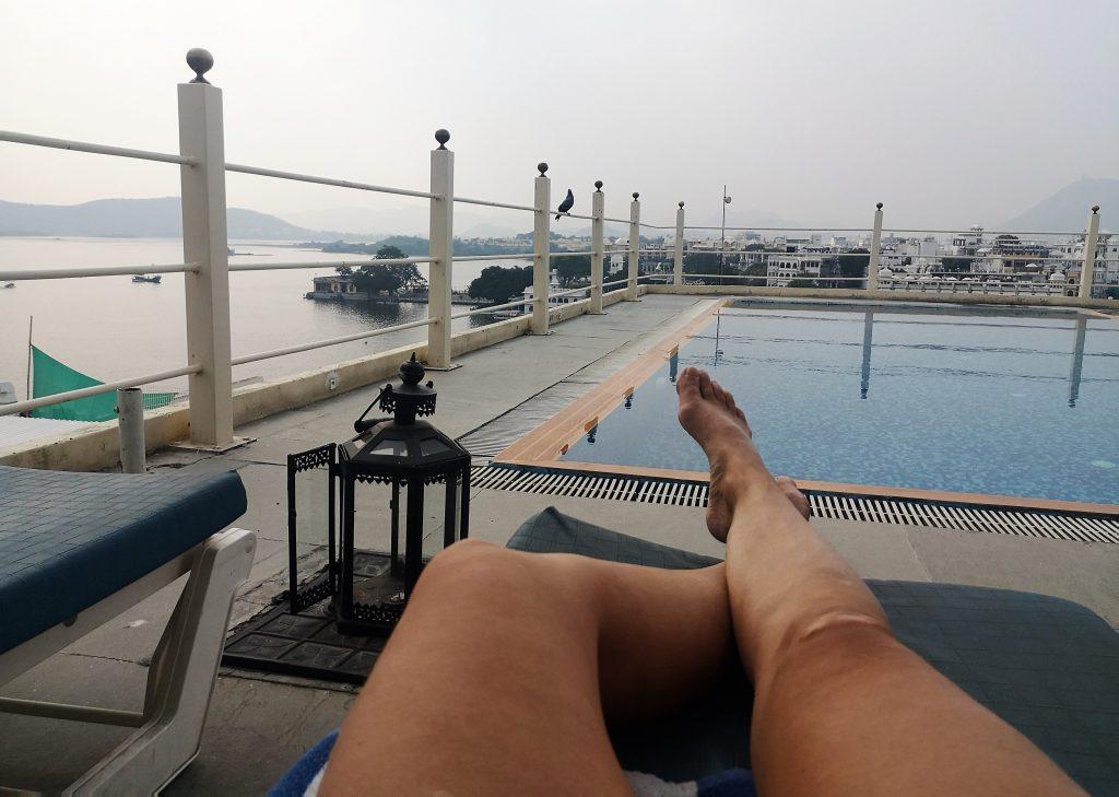 Uitzicht over Pichola meer - Rajasthan, India Hotel UdaiGarh