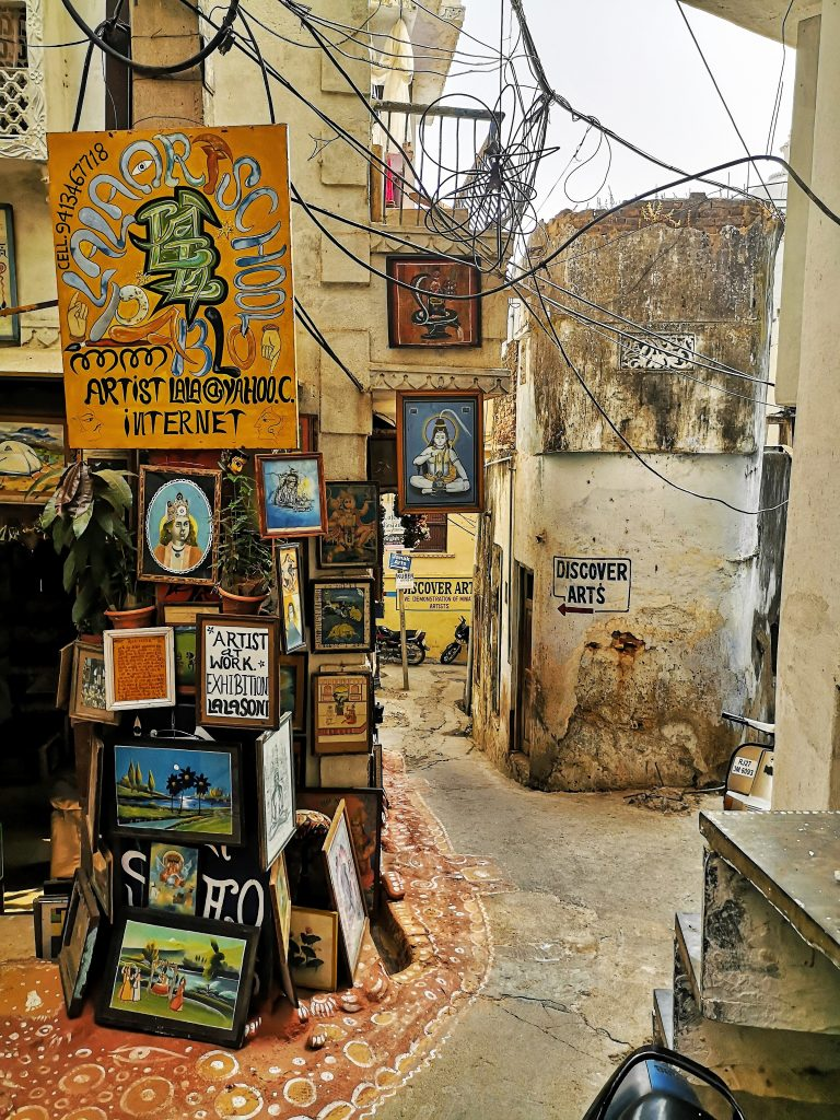 Straatbeeld Udaipur - Rajasthan, India