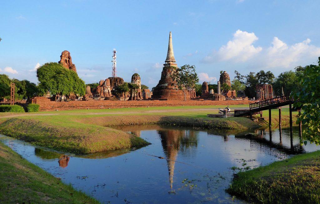 Fietsen tussen de tempels van Ayutthaya - Thailand (