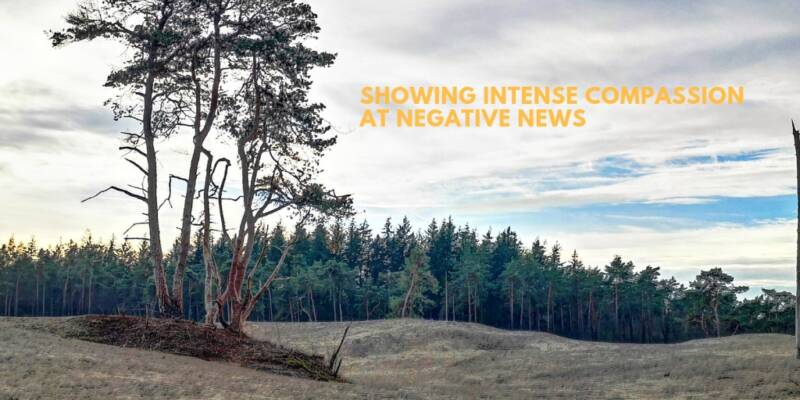 Showing Intense compassion at negative news