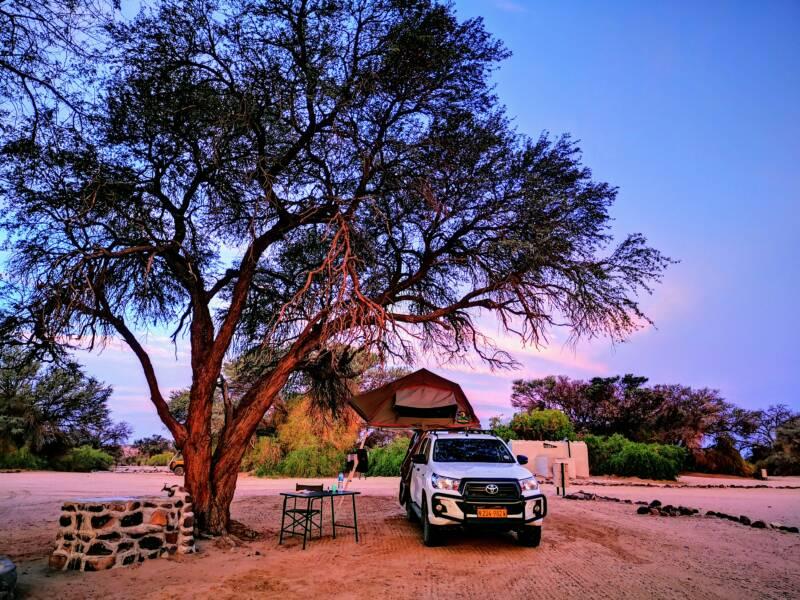 Kamperen in Namibië - Brandberg
