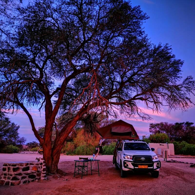 Zonsondergang Brandberg Namibië
