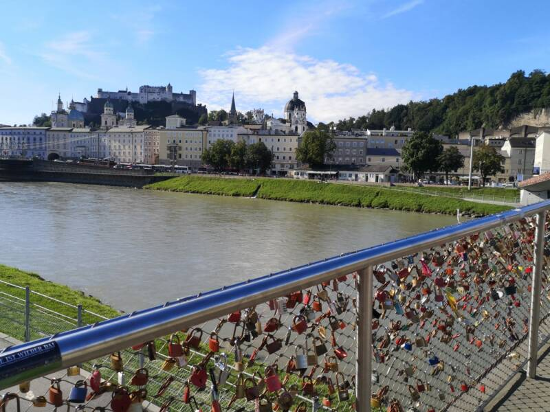 Marko-Feingold Steg Salzburg Oostenrijk